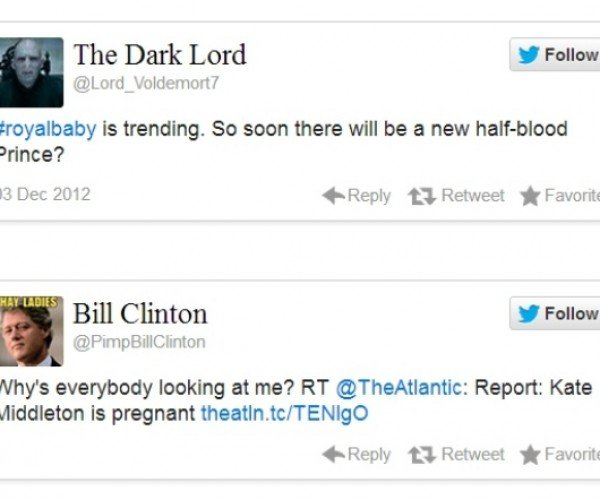 Twitter Parody Accounts Hail the Eventual Arrival of the #royalbaby