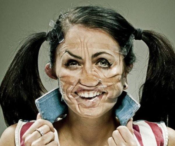 This is How Freaky People Look with Scotch Tape on Their Faces