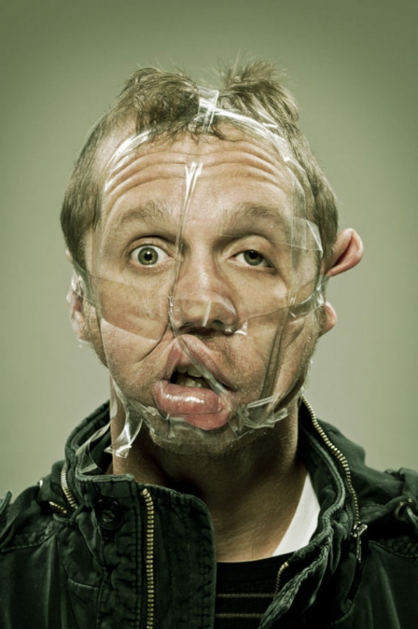This is How Freaky People Look with Scotch Tape on Their ...