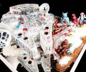 Gingerbread Millennium Falcon is Chewie, Literally.