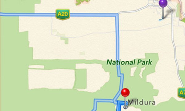 apple ios maps australia mildura incorrect location