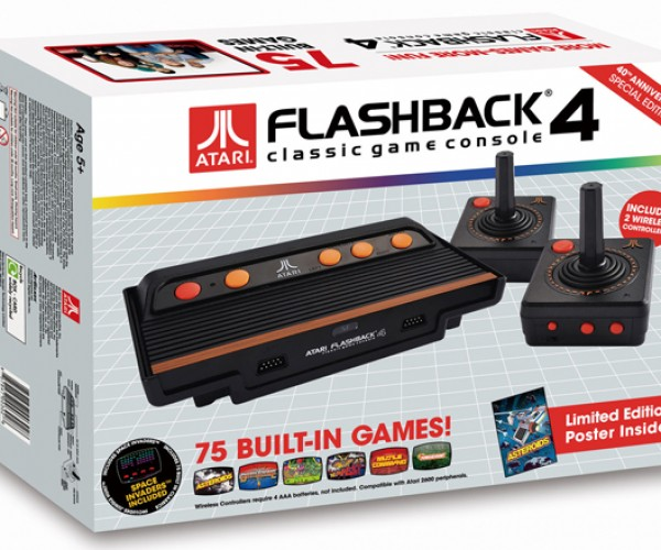 Atari Flashback 4: 75 Classic Games, 2 Wireless Controllers, 1 Box of Nostalgia