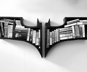Dark Knight Bookshelves: When Your Kindle is in Ruin, You Have My Permission to Buy