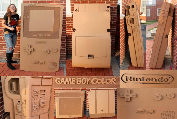 cardboard gameboy color