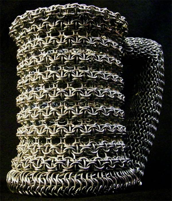 chainmail beer stein