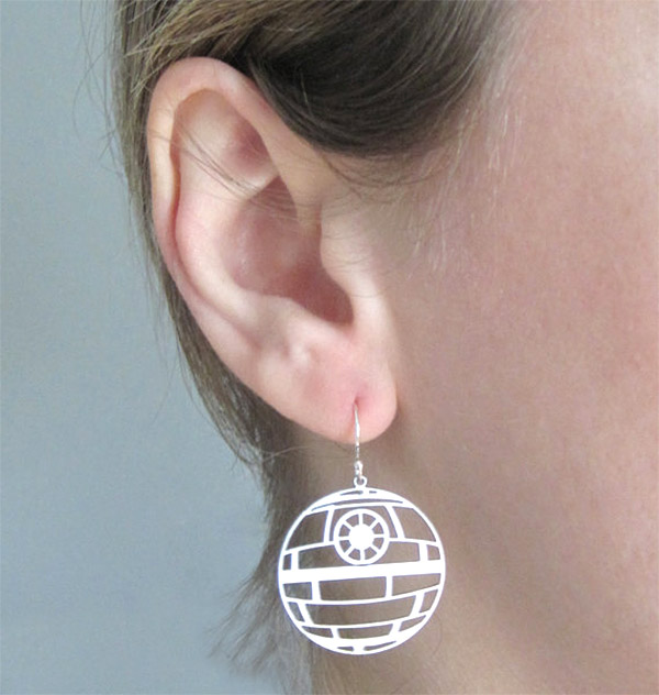 death star earring 2