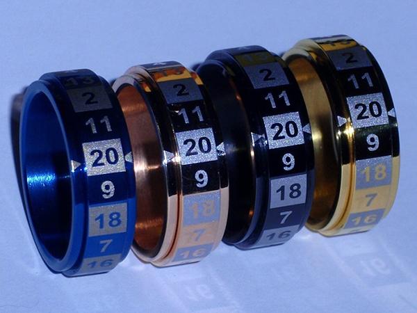 dice rings by Aaron Laniewicz