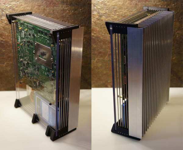 diy silent computer heatsink complete photo