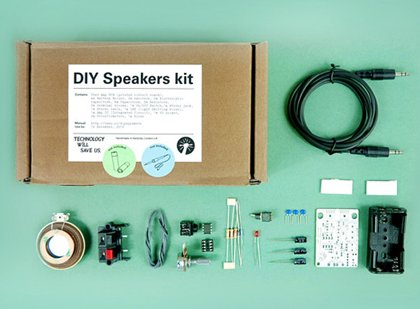 diy speakers kit by technology will save us