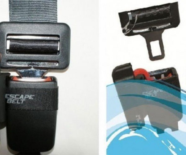 Escape Belt Automatically Unlocks Your Seatbelts If Your Car Goes Underwater