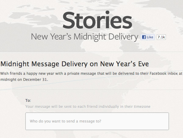 facebook stories midnight message