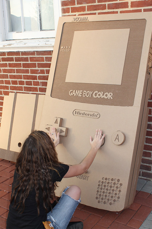 giant cardboard game boy
