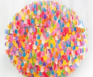 Gummi Bear Chandelier: Light up, Then Eat up!