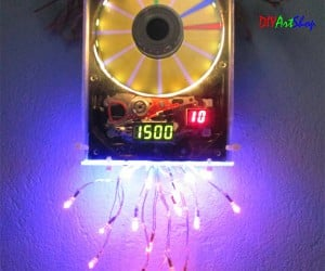 Hard Drive Clock Spins the Time onto Your Wall