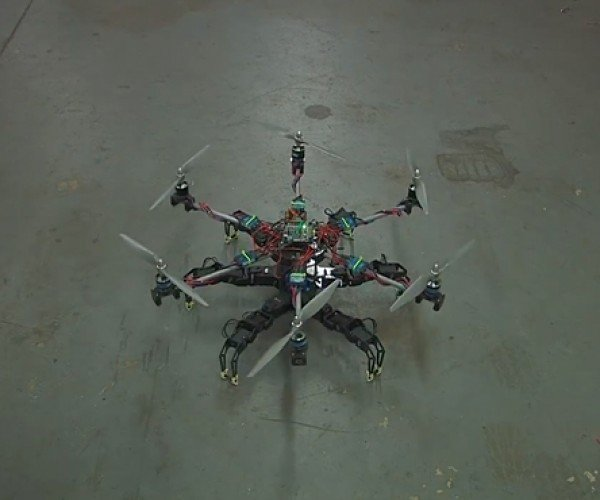 Hexapod Hexacopter: Time to Build Underwater Bunkers
