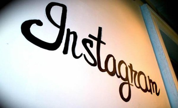 instagram sign photo
