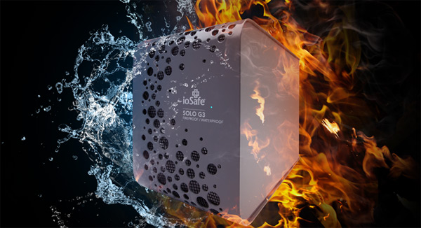 iosafe solo g3 hard drive fire water photo