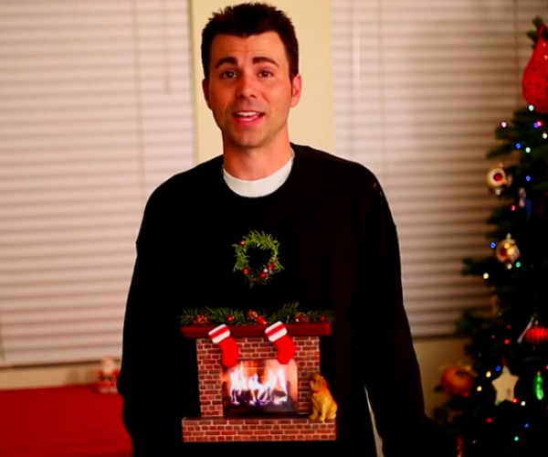Fireplace Ugly Sweater Won't Light Your Torso on Fire