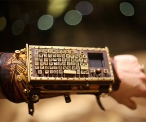 Steampunk Arm Guard Has Working Bluetooth Keyboard: Typepunk