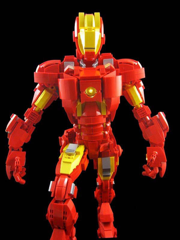 lego iron man mk vii concept by mike mccooey