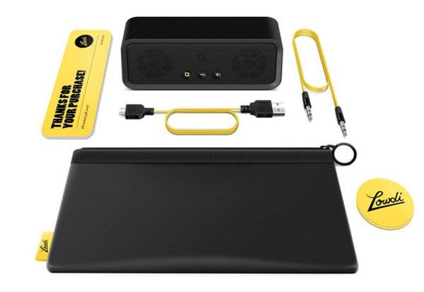 lowdi bluetooth speaker in box photo