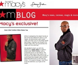 Macy's Shows off Sean John Sweater with OLED Display