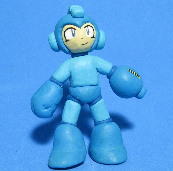 mega man clay miniature figures by ricardo becker