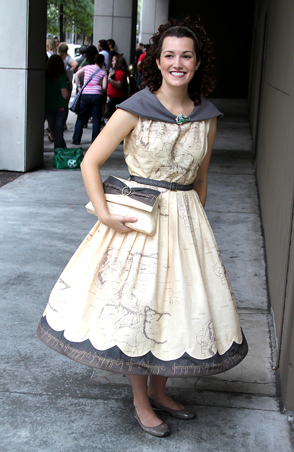 middle earth map lord of the rings dress by cressiebeth from matt & kristy