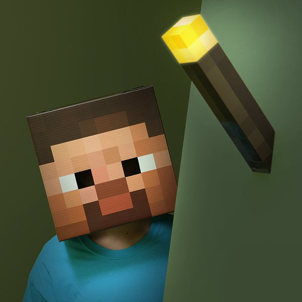 minecraft light up torch from thinkgeek 2