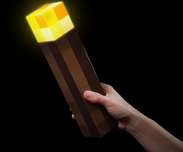Minecraft Light-Up Torch Won't Keep Dirt Off Your Floor
