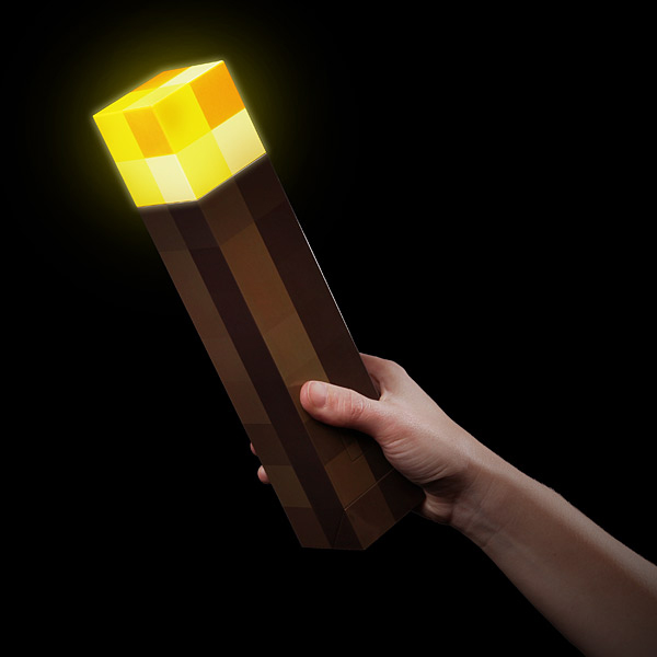 minecraft light-up torch from thinkgeek