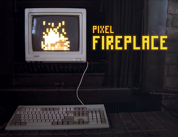 pixel fireplace by ted martens