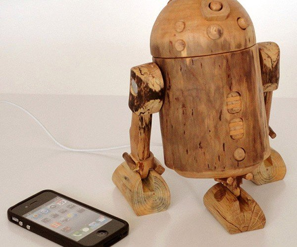 R2-D2 Wooden iPhone Dock: Help Me Etsy-Wan Kenobi, You're My Only Hope
