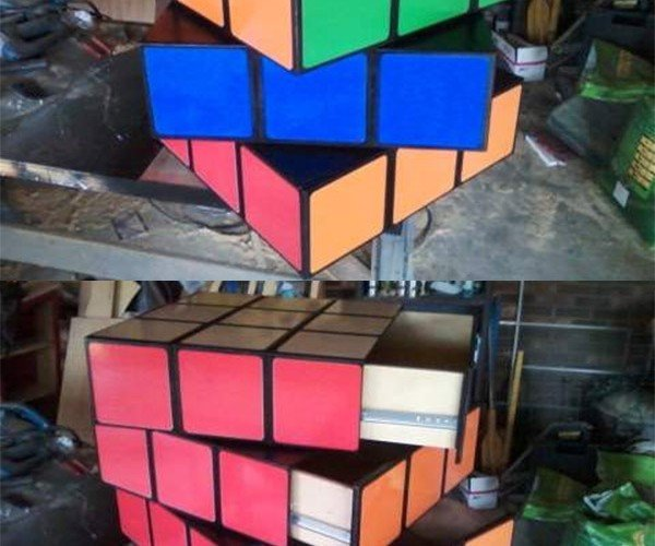 Rubik's Cube Chest of Drawers is Way Too Easy to Solve