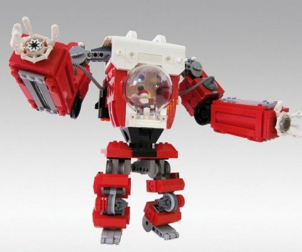 LEGO Santa Claus Mech Knows if You've Been Bad or Good, So Be Good for Goodness' Sake