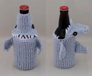 Shark Beer Cozies: Drink up, or Be Eaten!