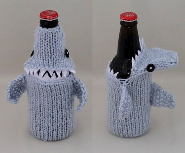shark beer cozy