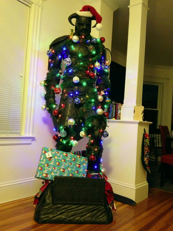 skyrim christmas tree