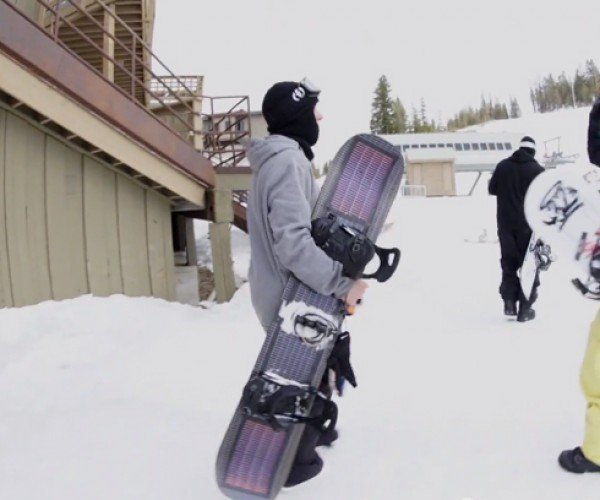 Solar Panel Snowboard: Shred & Charge
