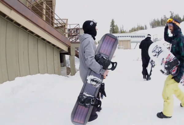 snowboard solar cell charger by signal and powerfilm