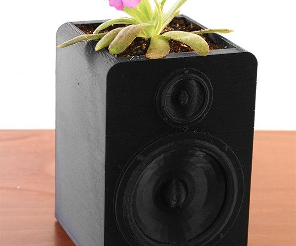 Speaker Planter Answers Question: What's the Sound of a Plant Growing?