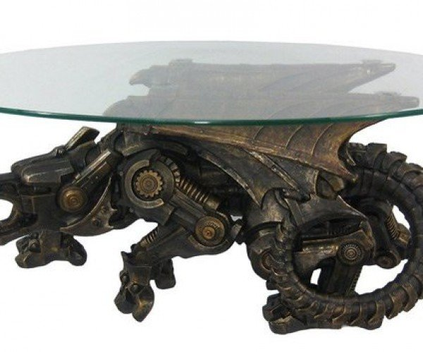 Steampunk Coffee Table: Dragonborn Furniture