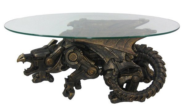 Steampunk Coffee Table Dragonborn Furniture Technabob