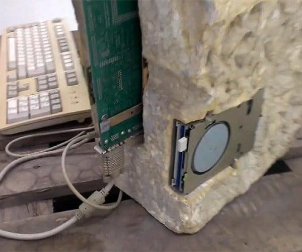 Sandstone PC Casemod is Positively Prehistoric