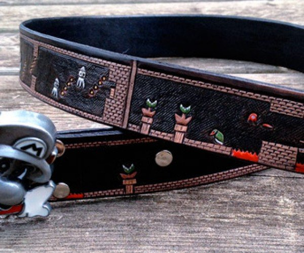 Super Mario Leather Belt Puts an Entire Level Around Your Waist