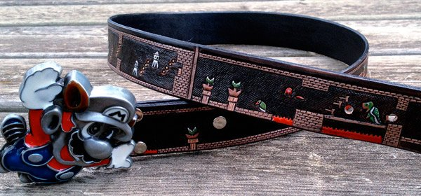super mario leather belt