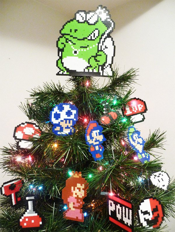 super mario 2 christmas tree