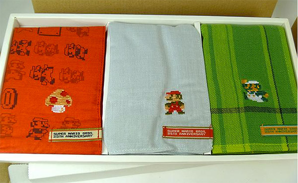 super mario hankie set