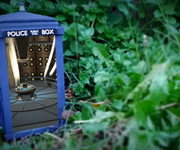 DIY Doctor Who TARDIS Model Actually Made Bigger on the Inside