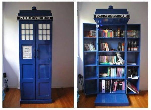 tardis bookshelf